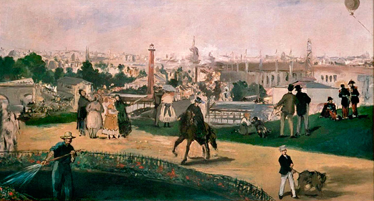 Manet's View of the Universal Exhibition -1867