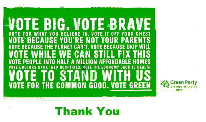 Green Party billboard