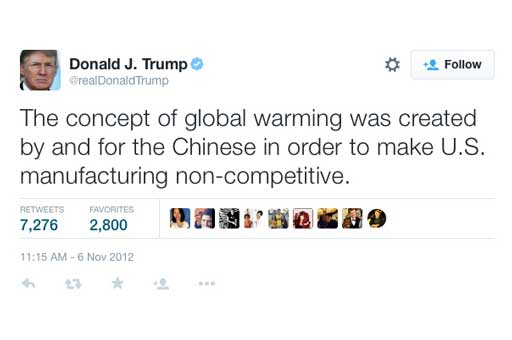 Trump on climate change