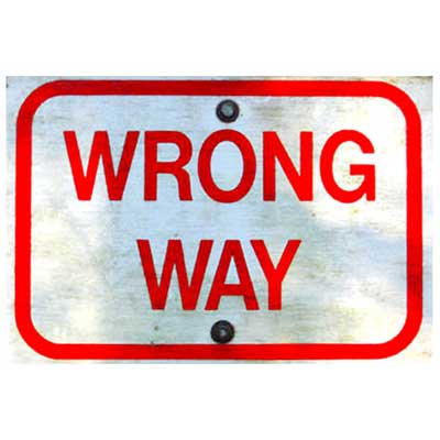 wrong-way-post